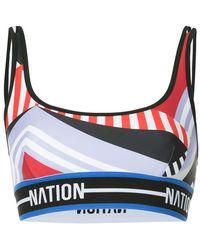 P.E Nation - Maracana Moto Crop Top - Lyst