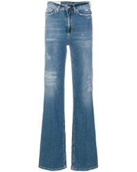 Dondup - Distressed Flared Jeans - Lyst