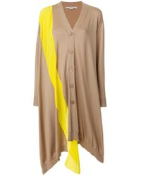 Stella McCartney - Asymmetric Stripe Soft-knit Cardigan - Lyst