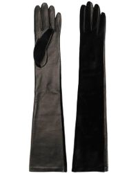 50a40e0b64b1 Lyst - Dents Long-length Leather Musketeer Gloves in Black