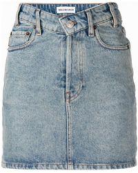 Balenciaga - V-neck Mini Skirt - Lyst