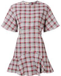 Maison Kitsuné - Checked A-line Dress - Lyst