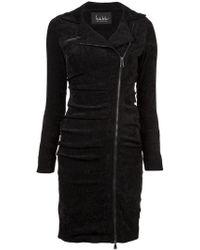 Nicole Miller - Tucked Dress - Lyst