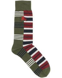 Burberry - Contrast Stripe Cotton Blend Socks - Lyst