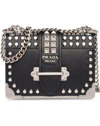 Prada - Cahier Studded Bag - Lyst