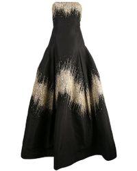 Oscar de la Renta - Robe longue à détails de paillettes - Lyst