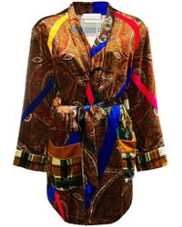 Pierre Louis Mascia - Embroidered Belted Coat - Lyst