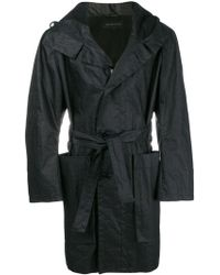 Ann Demeulemeester - Hooded Belted Coat - Lyst