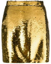 Amen - Sequin Mini Skirt - Lyst