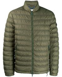 Peuterey - Padded Jacket With Logo Tag - Lyst