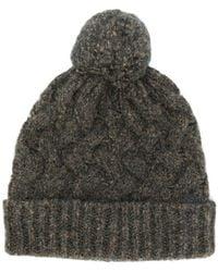 Lardini - Cable-knit Beanie - Lyst