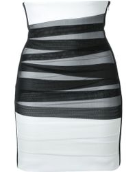 David Koma - High Waisted Tulle Bandage Skirt - Lyst