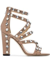 Jimmy Choo - Moore 100 Ballet Leather Sandals - Lyst