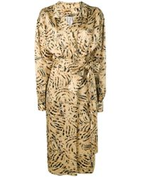 Marni - Patterned Wrap Font Dress - Lyst