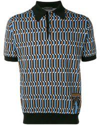 e8f3588aa20ab Prada - Poloshirt mit Jacquardmuster - Lyst