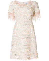 Blumarine - Bouclé Shift Dress - Lyst
