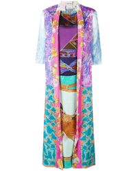 Rianna + Nina - Shell Print Kimono Style Kaftan - Lyst