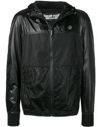 c40cdd875e Philipp Plein Leather Hoodie Jacket in Black for Men - Lyst