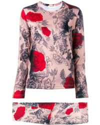 Comme des Garçons - Rose Print Two-piece Set - Lyst