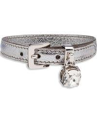 Miu Miu - Madras Leather Bracelet - Lyst