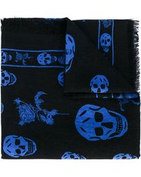 Alexander McQueen | Skull And Badge Scarf | Lyst