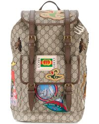 Gucci - Gg Supreme Applique Backpack - Lyst