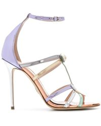 Paula Cademartori - Metallic Strappy Sandals - Lyst