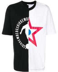 Dirk Bikkembergs   Asymmetric Print T-shirt   Lyst