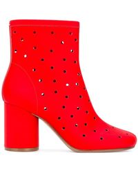 Maison Margiela - Socks Perforated Ankle Boots - Lyst