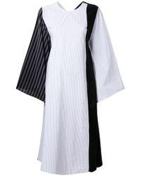 MM6 by Maison Martin Margiela - Striped Patchwork Dress - Lyst