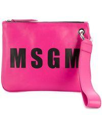 MSGM - Logo Clutch - Lyst