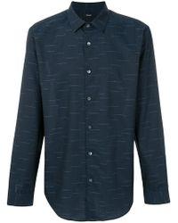 Theory - Dash Pattern Shirt - Lyst