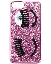 Chiara Ferragni - Flirting Glitter Iphone 8 Plus Case - Lyst