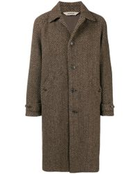 Aspesi - Single-breasted Coat - Lyst