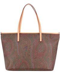 Etro - Paisley Print Tote Bag - Lyst