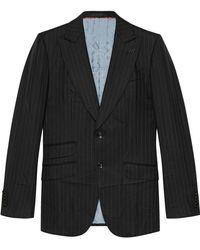 Gucci - Mitford Pinstripe Wool Jacket - Lyst