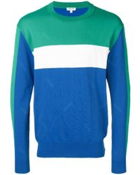cb12dfdf4b KENZO Colour Block Sweater in Green for Men - Lyst