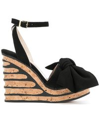 Paloma Barceló - Iris Bow Wedge Sandals - Lyst
