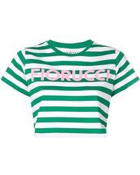 Fiorucci - Striped Crop T-shirt - Lyst