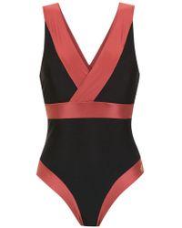 Brigitte Bardot - Zweifarbiger Badeanzug - Lyst