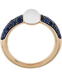 Pomellato - 18kt Rose Gold M'ama Non M'ama Adularia & Sapphire Ring - Lyst