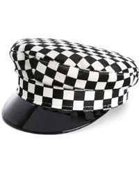 Manokhi - Checked Sailor Hat - Lyst