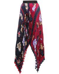 Yigal Azrouël - Floral Pleated Handkerchief Skirt - Lyst