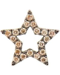 Rosa De La Cruz - 18k Burnished Gold Diamond Star Earring - Lyst
