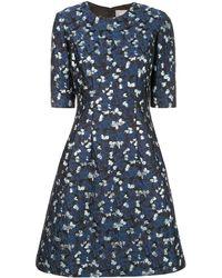 Lela Rose - Kleid mit Metallic-Print - Lyst