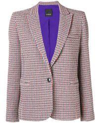 Pinko - Tweed Style Blazer - Lyst