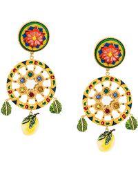 Dolce & Gabbana - Sicilian Cart Clip-on Earrings - Lyst