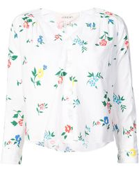The Great - Boutonniere Wildflower Print Top - Lyst