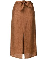 MASSCOB - Bow Waist Mid Skirt - Lyst