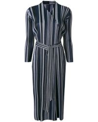 Pleats Please Issey Miyake - Striped Tie-waist Coat - Lyst